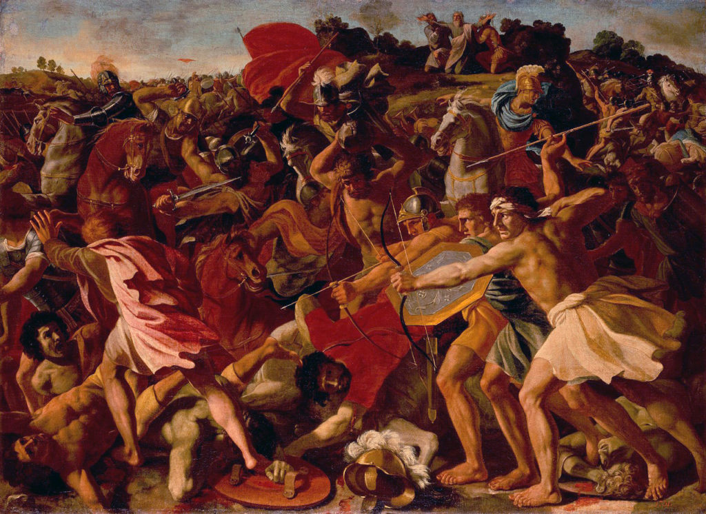 The Victory of Joshua over the Amalekites, Nicolas Poussin [Public domain]