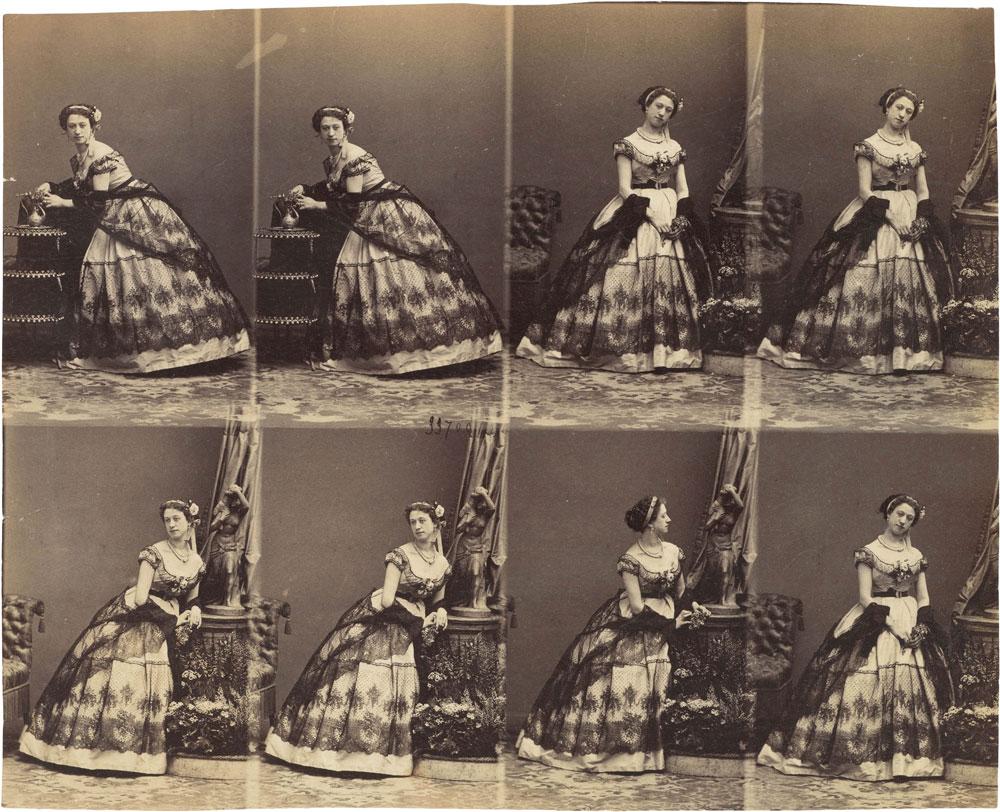 図:1862年に撮影されたカルテ・ド・ビジット