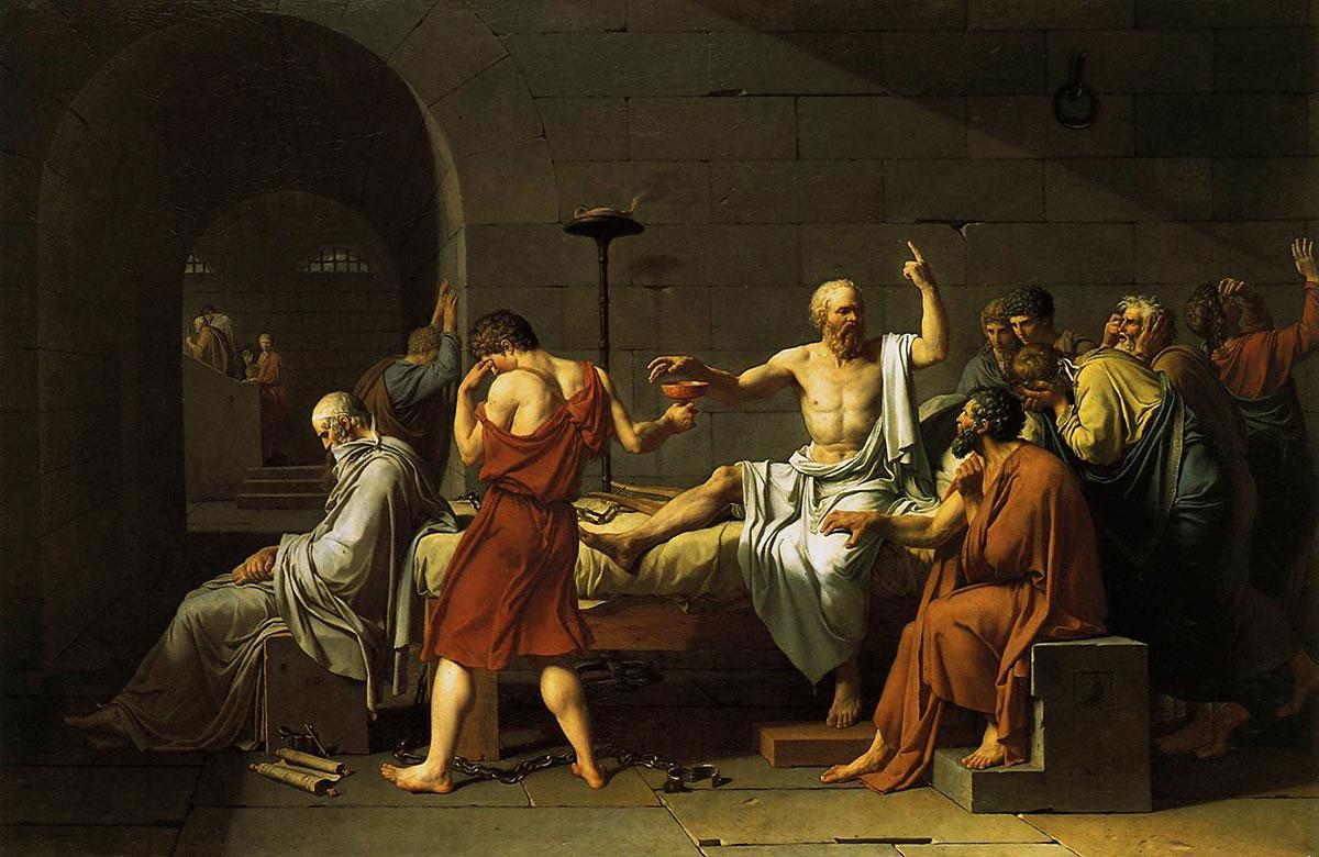 図:「ソクラテスの死」1787年・ルイ・ダヴィッド