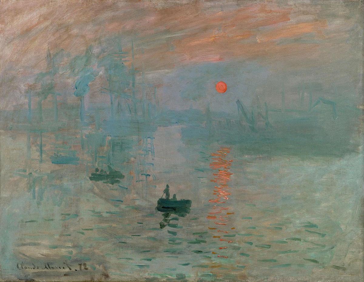 図:「印象・日の出」1872年・クロード・モネ