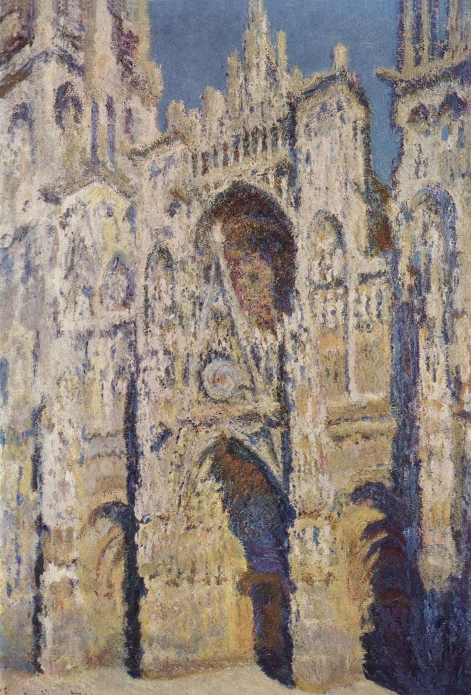 図:「ルーアン大聖堂(陽光)」1893年・クロード・モネ