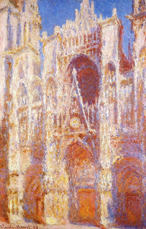 図:「ルーアン大聖堂(昼下り)」1893年・クロード・モネ